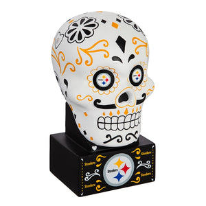 Pittsburgh Steelers Sugar Skull Statue