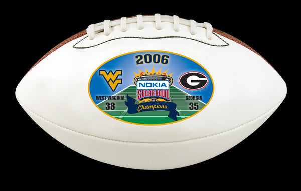 West Virginia Mountaineers 2006 Sugar Commemorative Limited Edition Football.