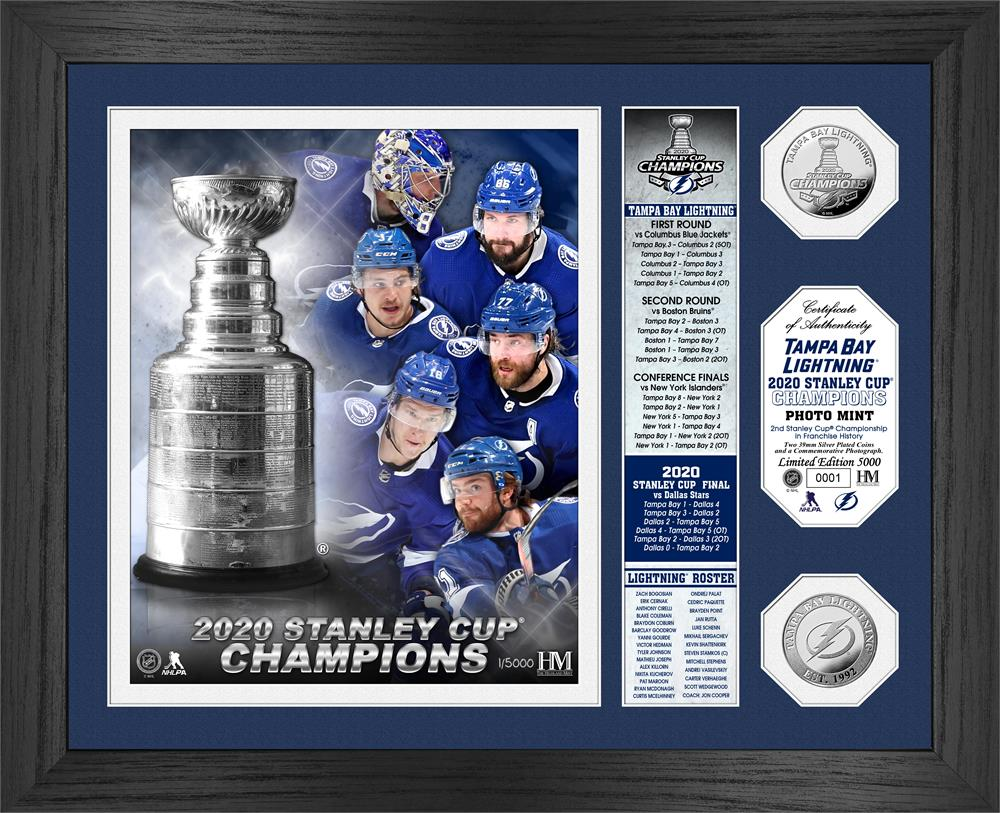 Tampa Bay Lightning 2020 Stanley Cup Champions Banner Silver Coin Photo Mint