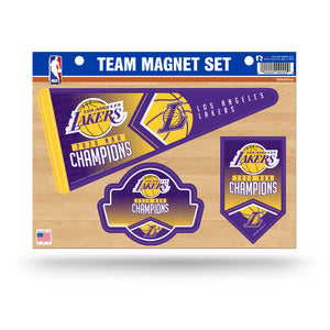 Los Angeles Lakers 2020 NBA Champs Team Magnet Set