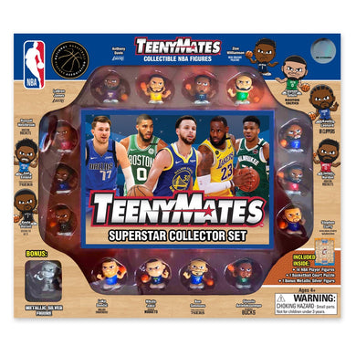 Zion Williamson New Orleans  Stephen Curry Golden State Warriors  NBA TeenyMates Basketball Gift Set  Luka Doncic Dallas Mavericks  Lebron James Los Angeles Lakers  Kevin Durant Brooklyn Nets  Kawhi Leonard Los Angeles Clippers  Jayson Tatum Boston Celtics  James Harden Houston Rockets  Giannis Antetokounmpo Milwauke