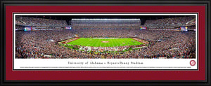 NCAA football memorabilia Alabama double crimson-matted Bryant-Denny stadium panorama from Sports Fanz