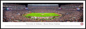 NCAA football memorabilia Alabama black framed Bryant-Denny Stadium panorama from Sports Fanz
