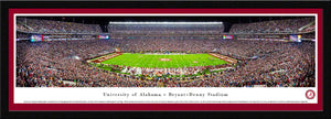 NCAA football memorabilia Alabama crimson-matted Bryant-Denny stadium panorama from Sports Fanz