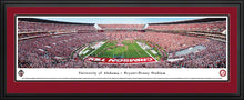 NCAA football memorabilia Crimson Tide double red-matted stadium panorama from Sports Fanz