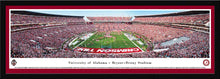 NCAA football memorabilia Crimson Tide black framed, red-matted stadium panorama from Sports Fanz