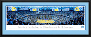 North Carolina Tar Heels Basketball Dean E. Smith Center Panoramic Picture