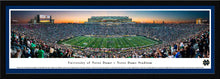 Notre Dame Fighting Under The Lights Panoramic Picture