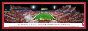 Oklahoma Sooners Football Memorial Stadium End-Zone Stripe Panoramic Picture