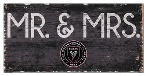 "Inter Miami Mr. & Mrs. Wood Sign - 6""x12"""
