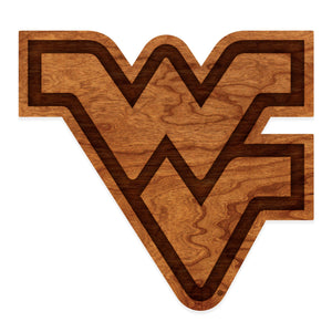 West Virginia Mountaineers Wood Wall Hanging Flying WV - Standard Size