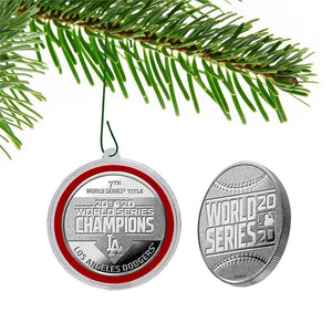 Los Angeles Dodgers 2020 World Series Champions Silver Mint Coin Ornament