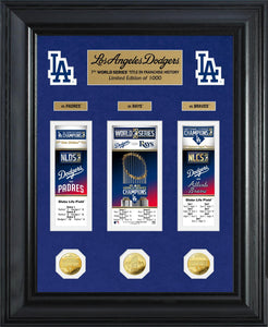 Los Angeles Dodgers 2020 World Series Champions Deluxe Gold Coin & Event Carnet Collection