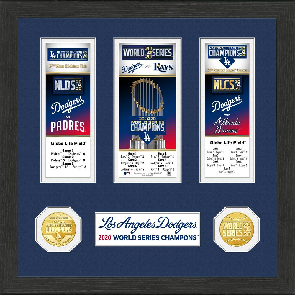 Los Angeles Dodgers 2020 World Series Champions Event Carnet Collection