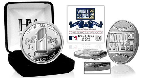 Tampa Bay Rays vs Los Angeles Dodgers 2020 World Series Dueling Silver Mint Coin