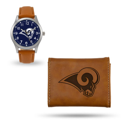 Los Angeles Rams Brown Wallet & Watch Set