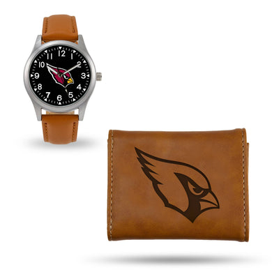 Arizona Cardinals Brown Wallet & Watch Set