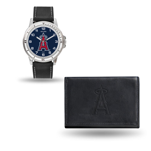Los Angeles Angels Black Watch and Wallet Set