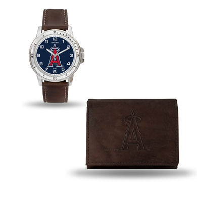 Los Angeles Angels Brown Watch and Wallet Set