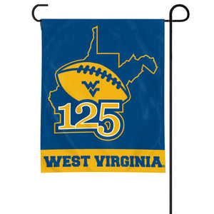 West Virginia Mountaineers 125 Years of WVU Football Garden Flag #1