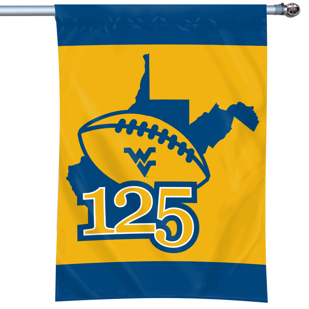West Virginia Mountaineers 125 Years of WVU Football Flag #1 - 40