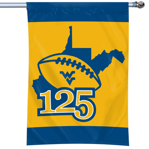 "West Virginia Mountaineers 125 Years of WVU Football 40""x28"" Flag #1"