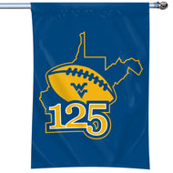 "West Virginia Mountaineers 125 Years of WVU Football Flag #2 - 40""x28"""