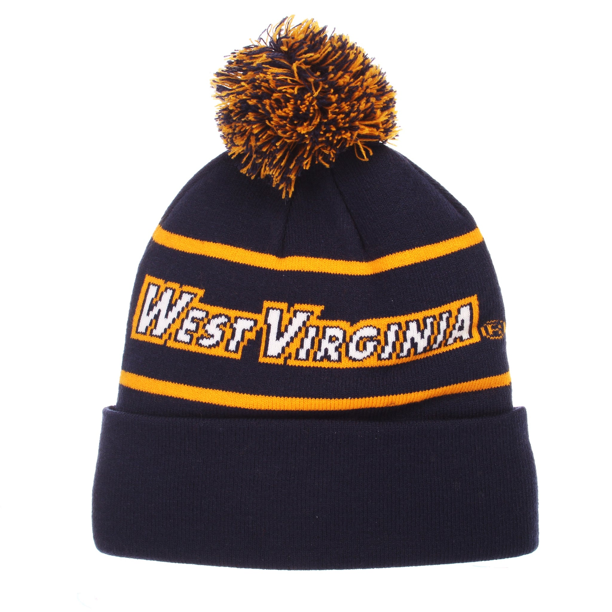 West Virginia Mountaineers Bandit Pom Knit Beanie – Sports Fanz e9c0c6b5a0a6