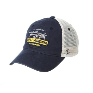 West Virginia Mountaineers Coliseum Meshback Adjustable Hat