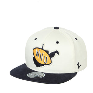 West Virginia Mountaineers Paramount Flatbill Snapback Hat