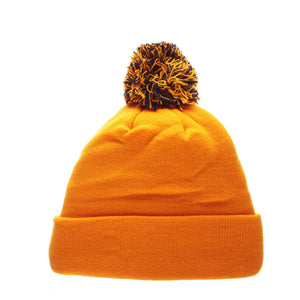 West Virginia Mountaineers Gold Pom Knit Beanie