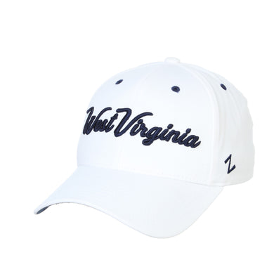 West Virginia Mountaineers Script Fitted Hat