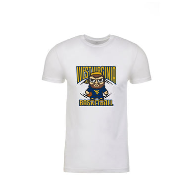 West Virginia Mountaineers White Basketball Emoji Shirt Shirt