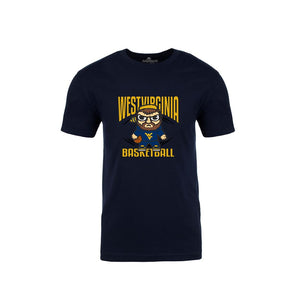 West Virginia Mountaineers Navy Basketball Emoji Shirt Shirt