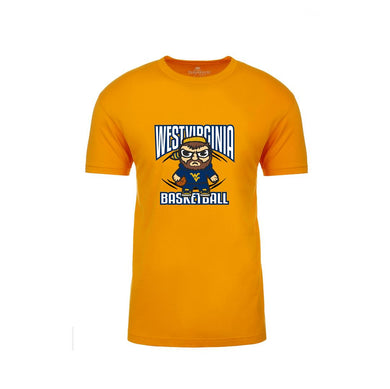 West Virginia Mountaineers Gold Basketball Emoji Shirt Shirt