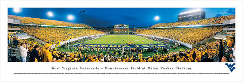 WEST VIRGINIA MOUNTAINEERS PANORAMIC MILAN PUSKAR STADIUM PICTURE END ZONE