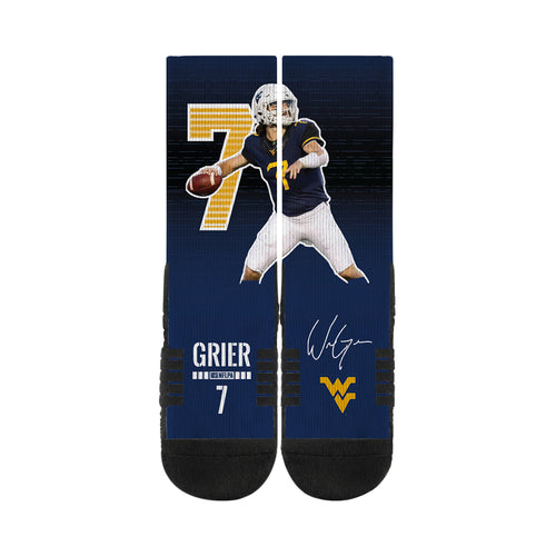 Will Grier West Virginia Mountaineers Action Crew Socks
