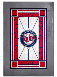 Minnesota Twins Stained Glass Wood Sign