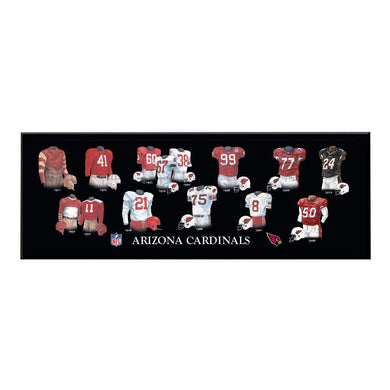 Arizona Cardinals Legacy Uniform Plaque