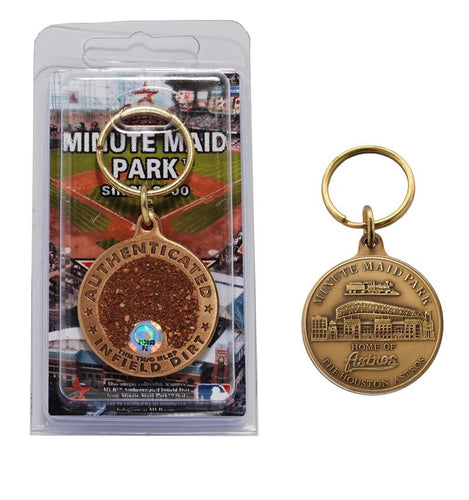 houston astros minute maid park infield dirt keychain