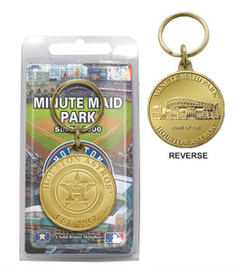 Houston Astros Bronze Team Keychain