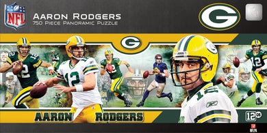 Aaron Rodgers Green Bay Packers  Panoramic Puzzle