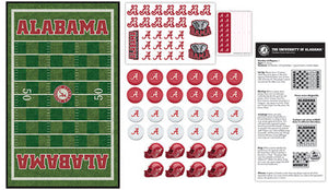 NCAA fan gear details of Alabama Crimson Tide checkers set from Sports Fanz