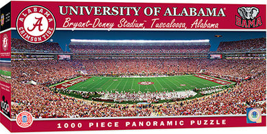NCAA fan gear Alabama Crimson Tide 1,000-piece panorama stadium puzzle from Sports Fanz