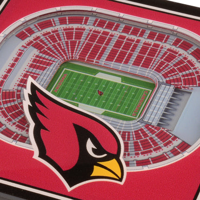 Arizona Cardinals 3D StadiumViews Coaster Set