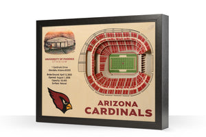 arizona cardinals 3d wall art stadium views