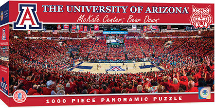 Arizona Wildcats Basketball Panoramic Puzzle