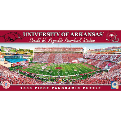 Arkansas Razorbacks Stripe the Stadium Panoramic Puzzle