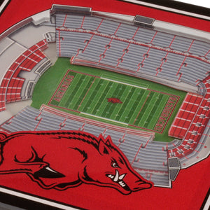 Arkansas Razorbacks 3D StadiumViews Coaster Set