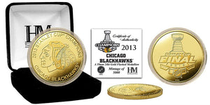 Chicago Blackhawks 2013 Stanley Cup Champions Gold Mint Coin